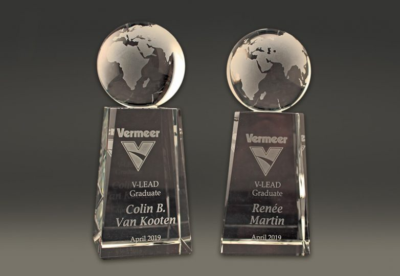 Sandcarved awards for Vermeer