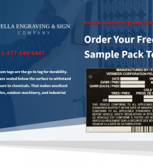 Screenshot of Pella Engraving & Sign Company landing page