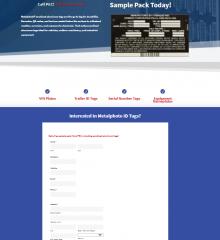 Screenshot of Pella Engraving & Sign Company landing page